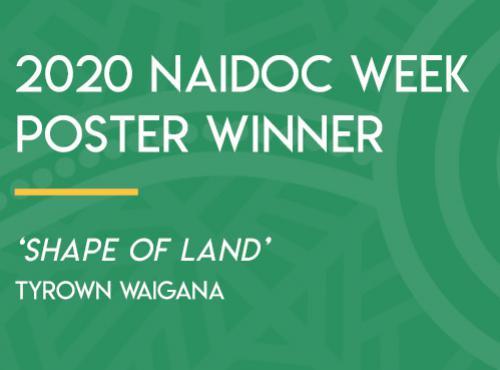 2020 NAIDOC Week Poster Winner 'Shape of Land' Tyrown Waigana