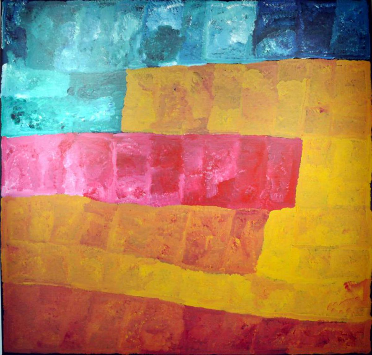 Kudditji Kngwarreye, 'My Country' August 2005 A6397, Acrylic on canvas, 200 x 200 cm