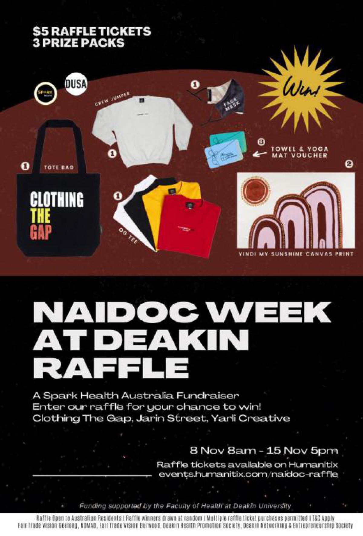 NAIDOC Week at Deakin Raffle - Funds for SparkHealth