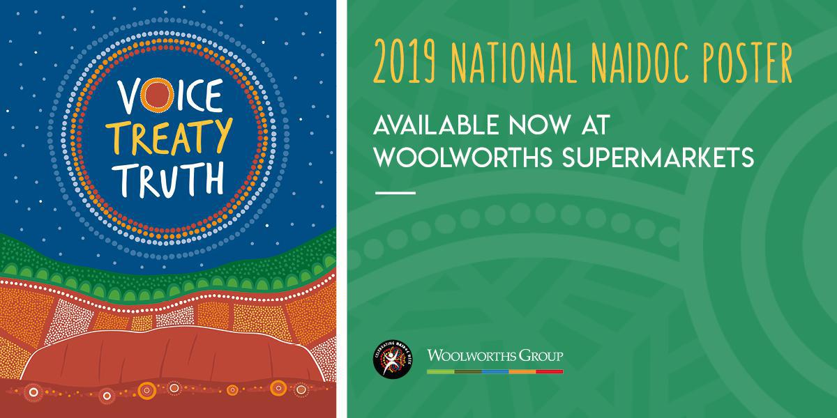 2019 National NAIDOC Poster Available Now at Woolworths Supermarkets