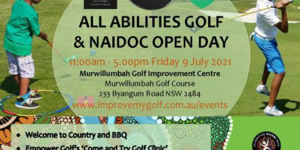 ALL ABILITIES GOLF & NAIDOC OPEN DAY FLYER