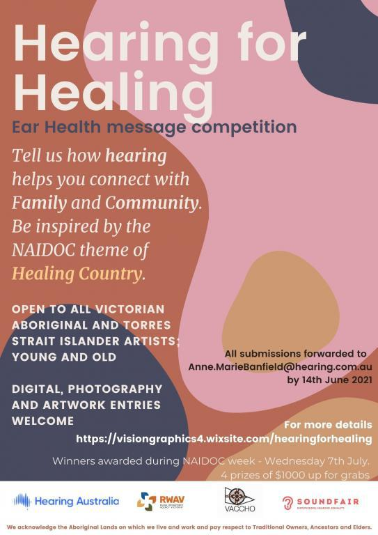 Hearing for Healing; Ear Health message art competition