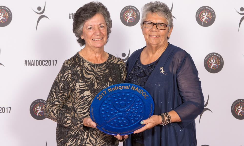 Minjerribah Moorgumpin Elders-in-Council, Merle Dippel and Lynette Shipway